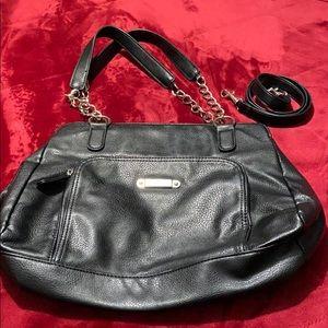 Franco Sarto Black Chain Handle Bag